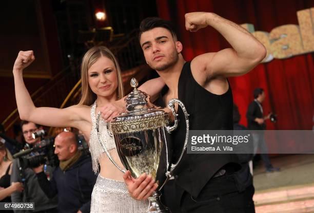 Italian judoka Fabio Basile and his dance partner Anastasia Kuzmina win the 2nd place of the Italian TV show 'Ballando Con Le Stelle' at Auditorium...