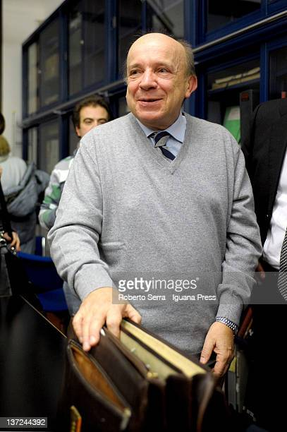 Italian jurist and judge of Italian Supreme Costitutional Court Gustavo Zagrebelsky attends the inauguration of the public library of the Antonio...