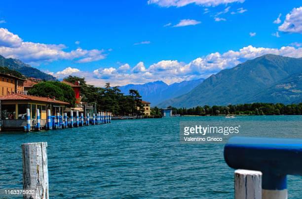 italian lake iseo - italian beautiful town lovere - bergamo stock pictures, royalty-free photos & images