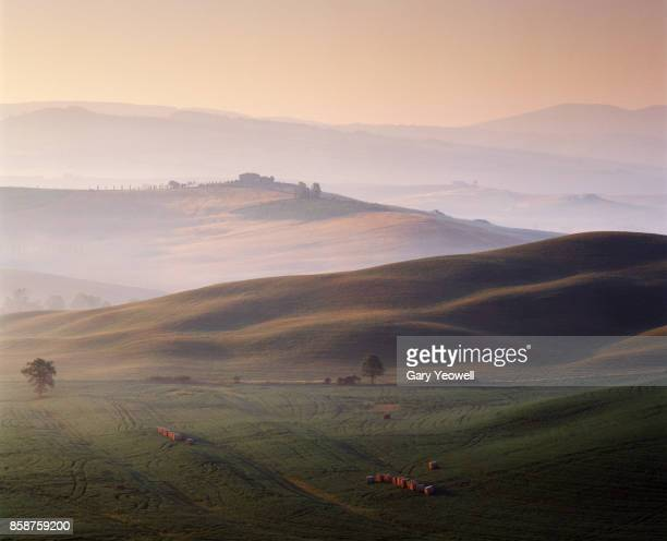 italian landscape at dawn - yeowell stock pictures, royalty-free photos & images
