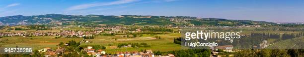 italian landscape in spring. panoramic view, landscape of the veneto region, valpolicella area, italy - consiglio stock pictures, royalty-free photos & images