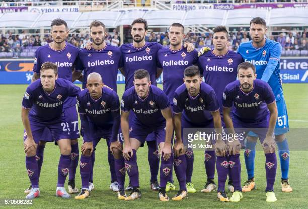 Italian League Serie A TIM 20172018 / 'r TEAM GROUP From left Up 'rCyril Thereau German Alejo Pezzella Davide Astori Cristiano Biraghi Giovanni Pablo...