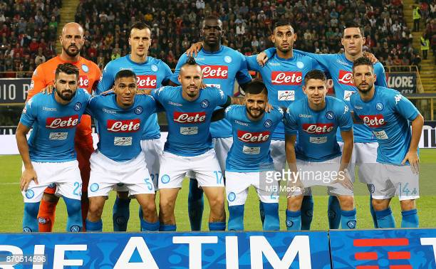 Italian League Serie A TIM 20172018 / 'r Team Group From left up 'rJose Manuel Reina Vlad Chiriches Kalidou Koulibaly Faouzi Ghoulam Jose María...