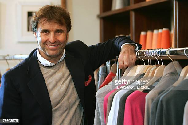 DOLMADJIAN Italian luxury designer Brunello Cucinelli poses 14 December 2007 in the medieval hilltop village of Solomeo where he bought a medieval...