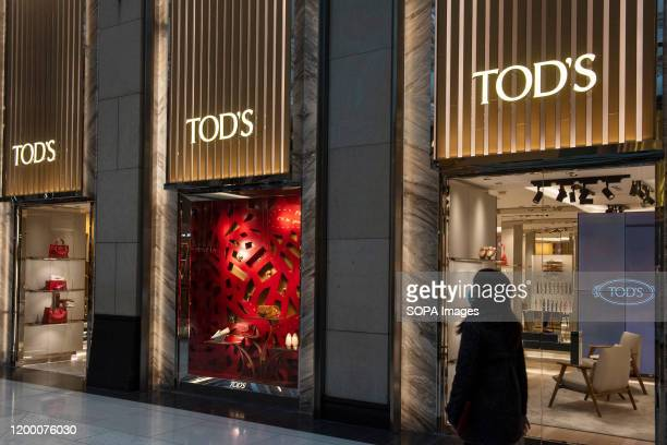 Italian luxury shoes and leather goods brand Tod's store seen in Hong Kong.
