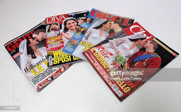 Italian magazines report the marriage of their Royal Highnesses Prince William Duke of Cambridge and Catherine Duchess of Cambridge following their...