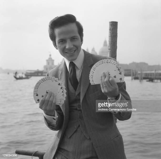 Italian magician Mago Silvan Venice 1960s