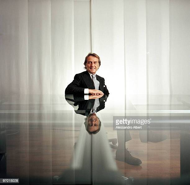 Italian Manager Luca Cordero di Montezemolo poses for a portrait shoot in Bologna on January 26 2006