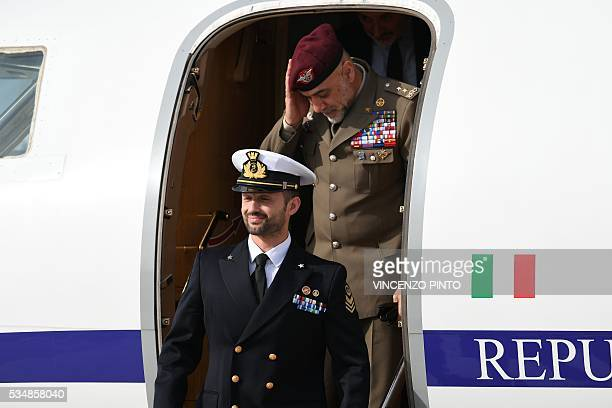 Italian Marine Salvatore Girone arrives on May 28 2016 at the Ciampino airport in Rome India's top court on May 26 2016 allowed Girone accused of...