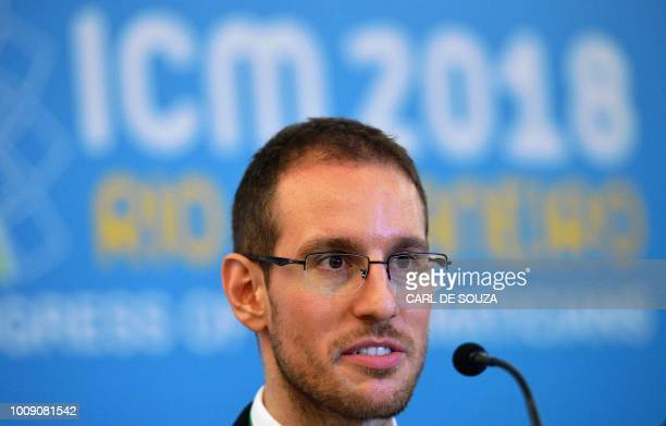 Italian mathematician Alessio Figalli one of the four winners of mathematics' prestigious Fields medal often known as the Nobel prize for math speaks...