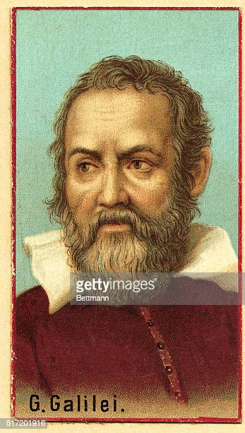Italian mathematician, astronomer and physicist Galileo , 1564-1642. Undated lithograph.