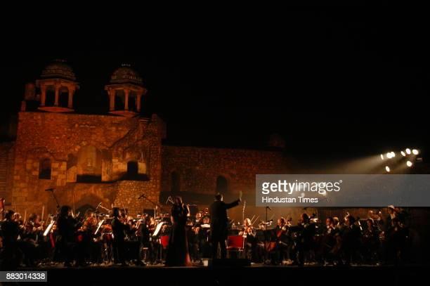 Italian Melody drapes Purana Quila Leading Italian Opera House The Parma Royal Theatre Orchestra performes at Purana Quila in New Delhi on Monday