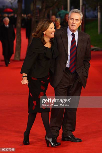 Italian member of Parliament Francesco Rutelli and his wife Barbara Palombelli attend the Official Awards Ceremony during Day 9 of the 4th...