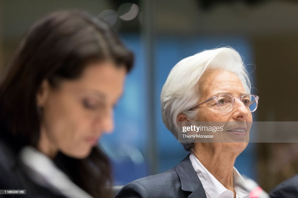 ECB President Christine Lagarde On The Committee On Economic And Monetary Affairs Of The European Parliament : ニュース写真