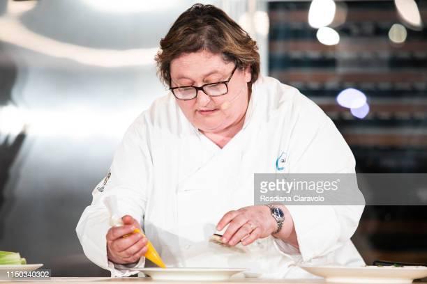 Italian Michelin Star Chef Valeria Piccinini attends the Cibo A Regola D'Arte 2019 at Fabbrica del Vapore on May 19 2019 in Milan Italy