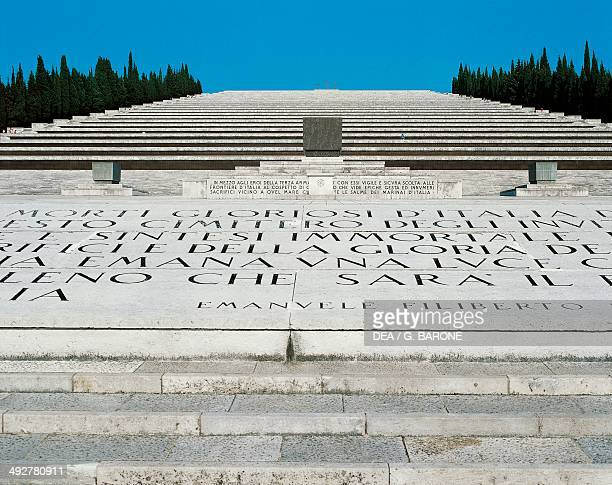 Italian Military Sacrarium of Redipuglia holds the remains of 100000 victims of the First World War 19351938 architect Giovanni Greppi sculptor...