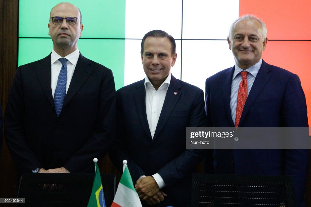 Mayor of Sao Paulo Joao Doria meets the Italian Minister of Foreign Affairs : Photo d'actualité