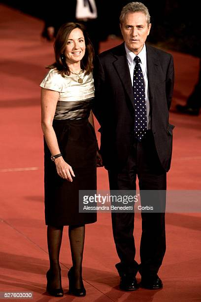 Italian Minister Francesco Rutelli and his wife Italian journalist Barbara Palombelli arrives at the premiere of the film Elizabeth The Golden Age at...
