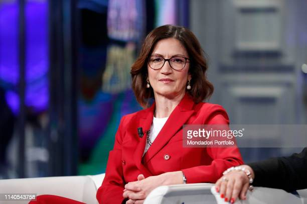Italian Minister of Education Mariastella Gelmini guests at the TV show Porta a Porta. Rome , Arpril 3rd, 2019