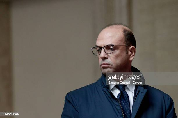 Italian Minister of Foreign Affairs Angelino Alfano during the meeting at Palazzo Chigi between Italian Prime Minister Paolo Gentiloni and Turkish...