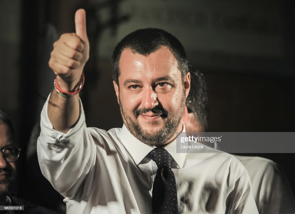 Lega Leader Matteo Salvini Attends Campaign Rally