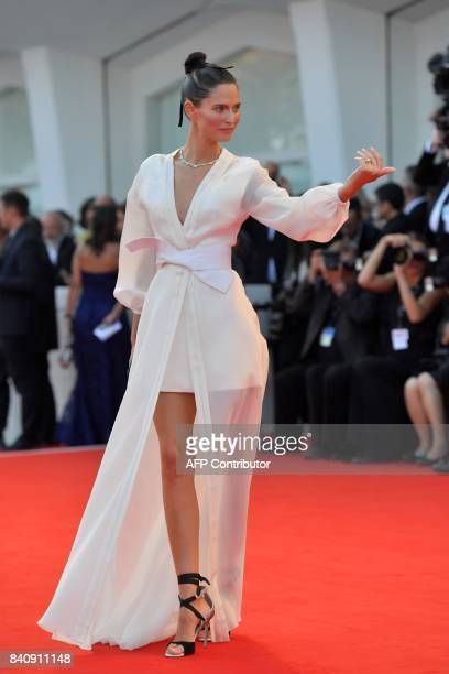 Italian model Bianca Balti arrives for the opening ceremony of the 74th Venice Film Festival and the premiere of the movie 'Downsizing' on August 30...