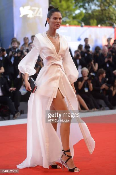 Italian model Bianca Balti arrives the opening ceremony of the 74th Venice Film Festival and the premiere of the movie 'Downsizing' on August 30 2017...