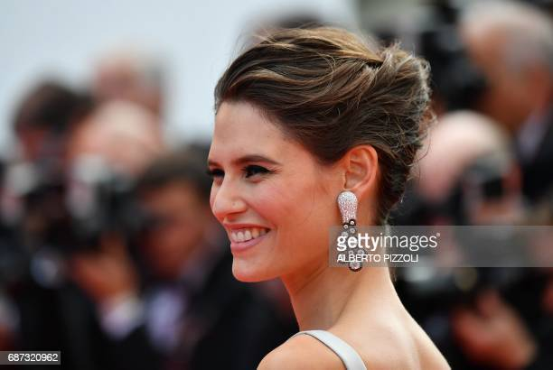 Italian model Bianca Balti poses as she arrives on May 23 2017 for the '70th Anniversary' ceremony of the Cannes Film Festival in Cannes southern...