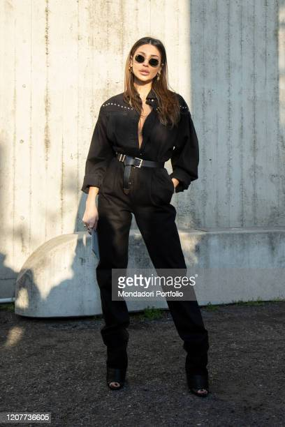 Italian model Cristina Buccino guest on the first day of Fashion Week Milan February 19th 2020