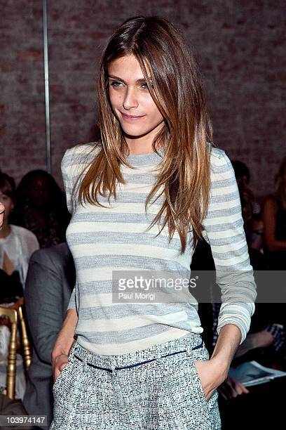 Italian model Elisa Sednaoui attends the Jason Wu Spring 2011 fashion show during MercedesBenz Fashion Week on September 10 2010 in New York City