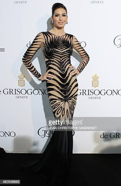 Italian model Elisabetta Gregoraci attends the De Grisogono Party during the 67th annual Cannes Film Festival at the Eden Roc hotel in Antibes,...