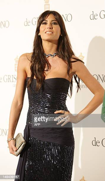 Italian model Elisabetta Gregoraci attends the Grisogono Party at the Hotel Eden Roc in Antibes during the 65th Cannes film festival on May 23, 2012....