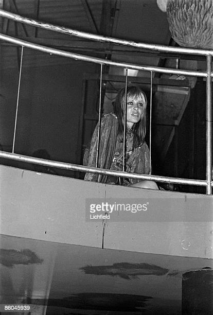 Italian model film actress and fashion designer Anita Pallenberg partner of British rock musician Keith Richards at the reception at Cafe des Arts...