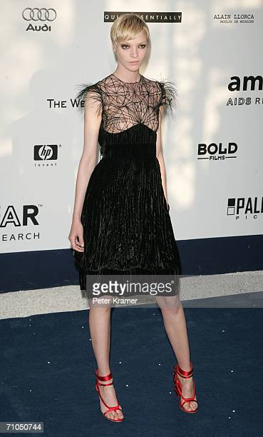 Italian model Mariacarla Boscono arrives at 'Cinema Against AIDS 2006' the annual event in aid of amfAR at Le Moulin de Mougins during the 59th...