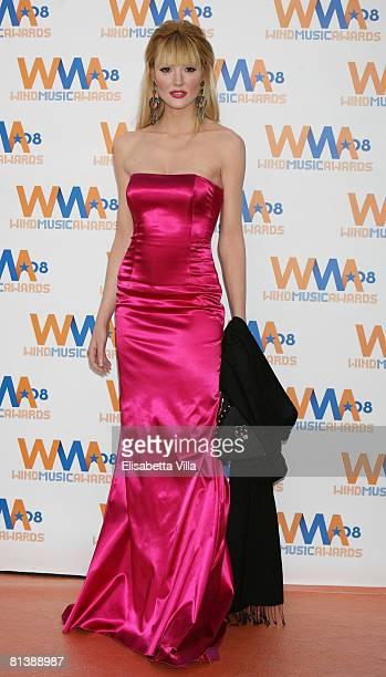 Italian model Marta Cecchetto attends the 2008 Wind Music Awards at Villa Giulia on June 3 2008 in Rome Italy