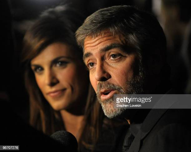 Italian model/actress Elisabetta Canalis and actor George Clooney attend the 2009 New York Film Critic's Circle Awards>> at Crimson on January 11...