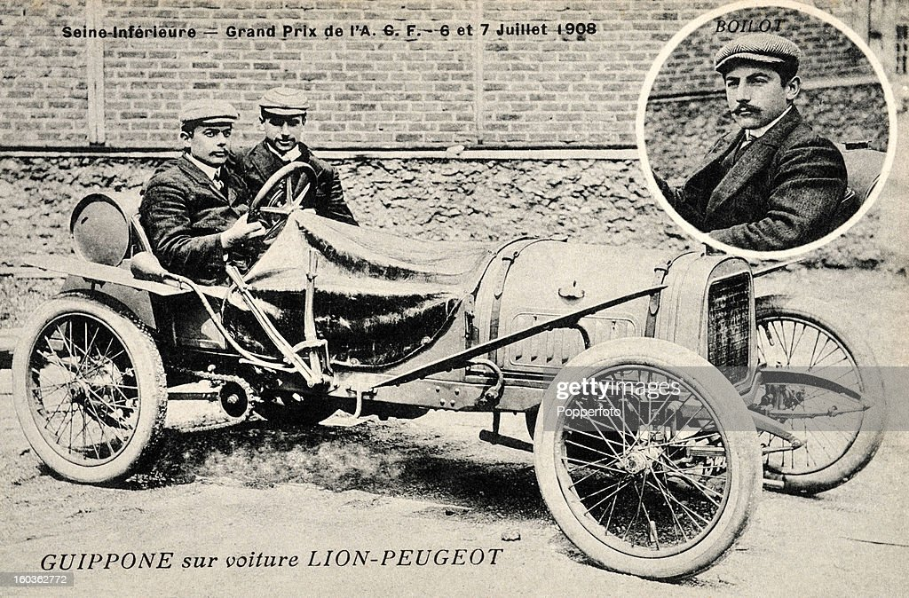 Giosue Giuppone In A Lion-Peugeot Racing Car Pictures | Getty Images