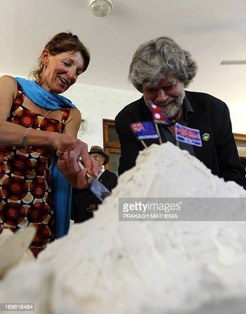 Italian mountaineer Reinhold Messner and New Zealand's mountaineer Lydia Bradey the first male and female climbers to summit Mount Everest without...