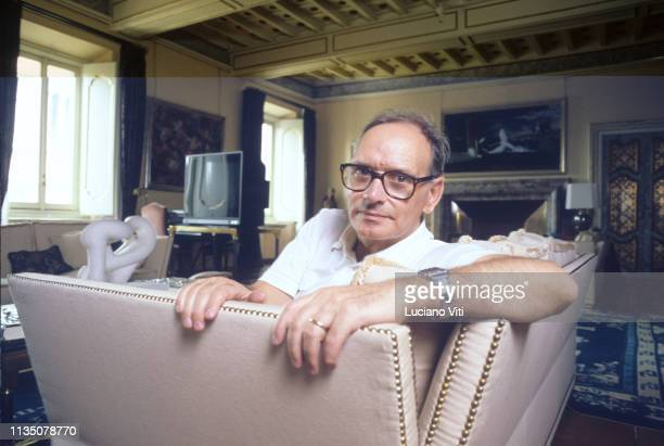 Italian music composer Ennio Morricone in his house Rome Italy 1987
