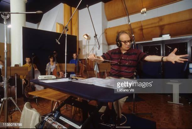 Italian music composer Ennio Morricone Rome Italy 1993