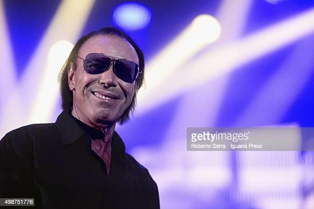 Italian musician and author Antonello Venditti performs at Unipol Arena on November 25 2015 in Bologna Italy