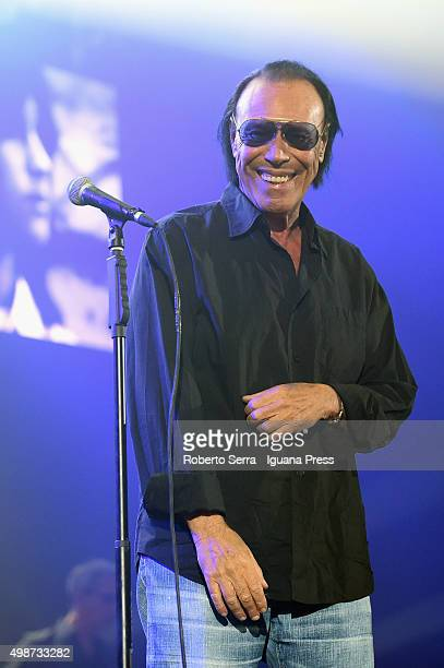 Italian musician and author Antonelo Venditti performs at Unipol Arena on November 25 2015 in Bologna Italy