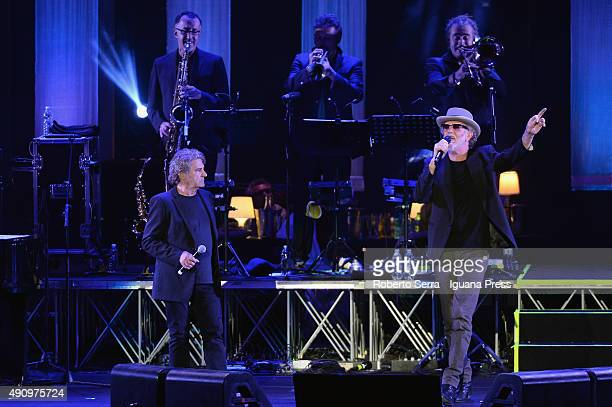 Italian musician and author Francesco De Gregori celebrate the 40th anniversary of his best record 'Rimmel' and popsinger Fausto Leali as guest in...