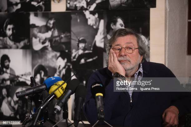 Italian musician and author Francesco Guccini unveils his latest record L'Osteria delle Dame at Osteria delle Dame on October 27 2017 in Bologna Italy