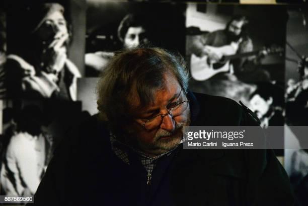 Italian musician and author Francesco Guccini unveils his latest record 'L'Osteria delle Dame' at Osteria delle Dame on October 27 2017 in Bologna...
