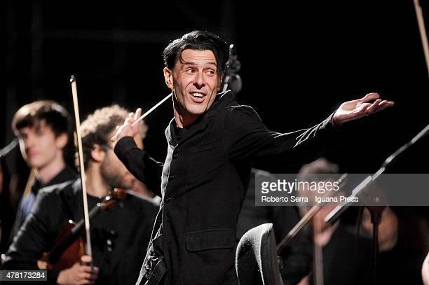 Italian musician and composer Ezio Bosso performs with the Collegium Musicum Almae Matris Orchestra for the ReUniOn of ex students of the Università...