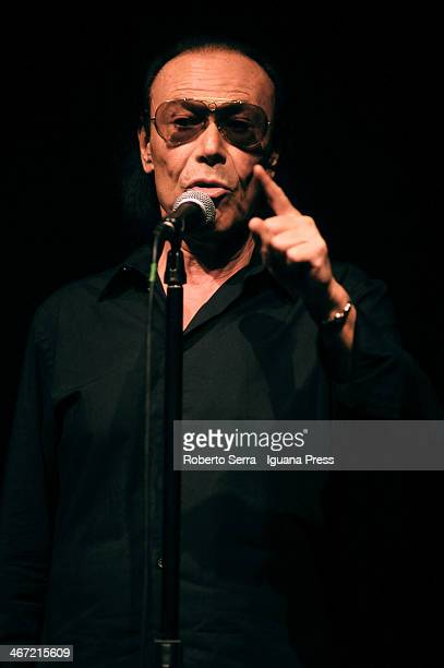 Italian musician and pop singer Antonello Venditti performs his concert at Europauditorium on February 3 2014 in Bologna Italy