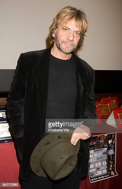 Italian musician Tony Esposito attends Roma VideoClip 2008 Awards at Cinecitta on January 13 2009 in Rome Italy