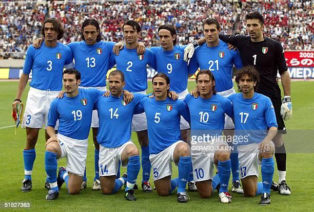 Italian national soccer team Paolo Maldini Alessandro Nesta Christian Panucci Filippo Inzaghi Christian Vieri Gianluigi Buffon Gianluca Zambrotta...