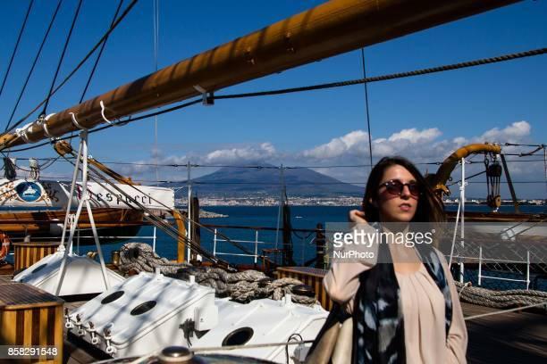 Italian navy's ship Amerigo Vespucci is to Naples Italy October on 062017